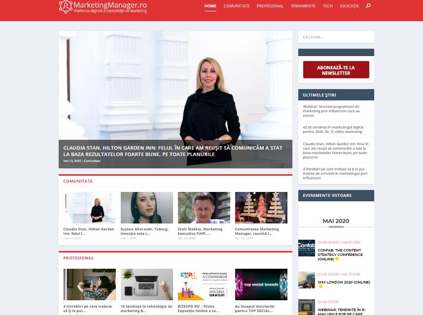 MarketingManager.ro, platforma digitală a comunității de marketing din România