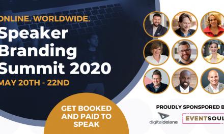 Speaker Branding Summit: 20 – 22 mai, online