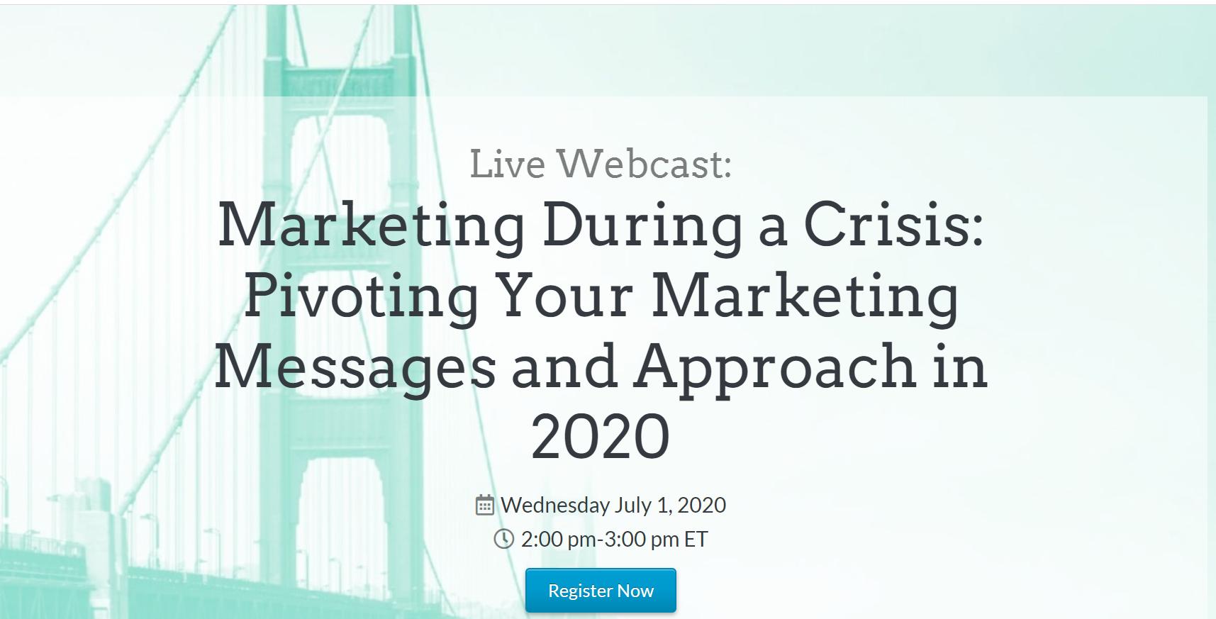 Live webcast: marketingul în timpul unei crize – cum îți adaptezi mesajele și abordarea