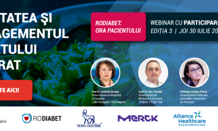 """Oameni și Companii organizează un nou webinar """"Ora Pacientului"""" în programul național RoDiabet"""