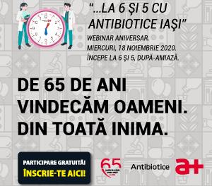 Al patrulea webinar Antibiotice 65 de ani, dedicat comunității de cardiologie