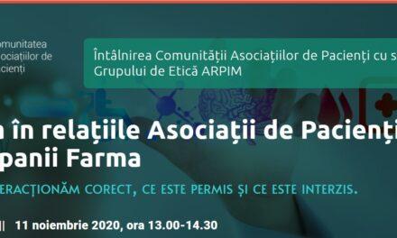 Caspa.ro organizează a doua dezbatere digitală dedicată asociațiilor de pacienți