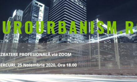 A cincea dezbatere digitală Eurourbanism.ro, dedicată abordărilor sustenabile în construcții