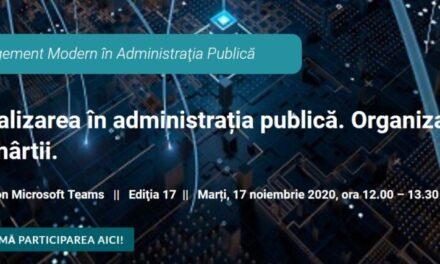 """Portalul Administratie.ro organizează un webinar dedicat """"Organizațiilor fără hârtii"""""""