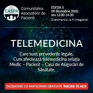Telemedicina, subiectul ultimei întâlniri a comunității Asociațiilor de Pacienți