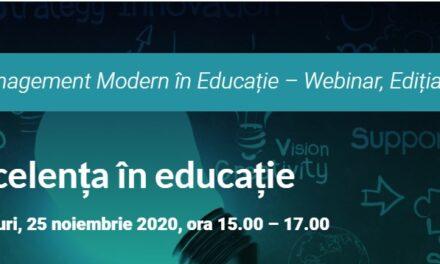 Excelența în Educație a fost tema celei de-a treia întâlniri digitale a portalului Edumanager.ro