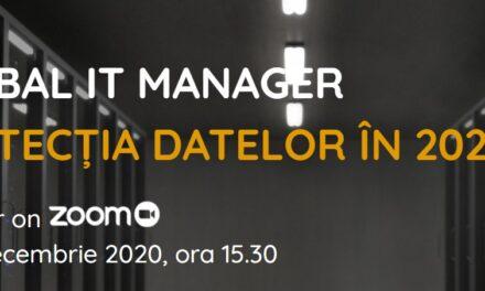 Tema primei ediții Global IT Manager din 2020: protecția datelor