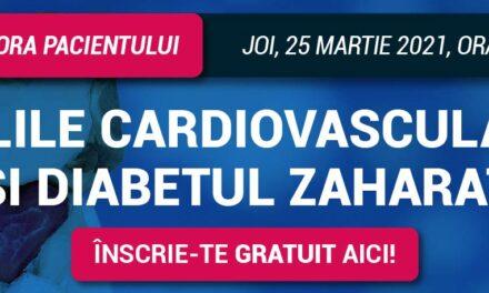 RoDiabet Ora Pacientului: Despre Bolile Cardiovasculare și Diabetul zaharat