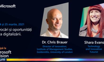 Speakeri de renume mondial și companii inovatoare vor urca pe scena Microsoft Envision Forum 2021