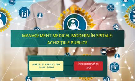 """Comunitatea OSC – SpitalePublice: Pe 27 aprilie are loc dezbaterea video Management Medical Modern cu tema """"Achiziții publice"""""""