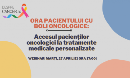 """Comunitatea OSC – DespreCancer.ro """"Accesul pacienților oncologici la tratamente medicale personalizate"""", tema webinarului din 27 aprilie"""