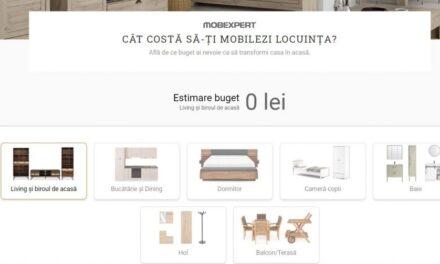 Inovație Mobexpert: planificatorul de buget permite calcularea cheltuielilor de amenajare a casei