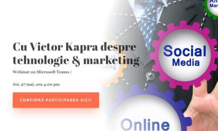 Comunitatea OSC – MarketingManager: Pe 27 mai discutăm cu Victor Kapra despre tehnologie & marketing