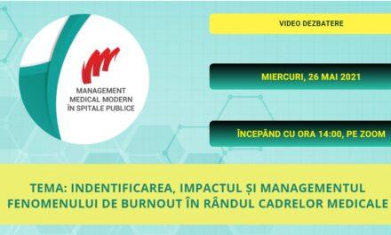"""Comunitatea OSC – SpitalePublice: Dezbaterea online """"Identificarea, impactul și managementul fenomenului de burnout în rândul cadrelor medicale"""" – 26 mai"""