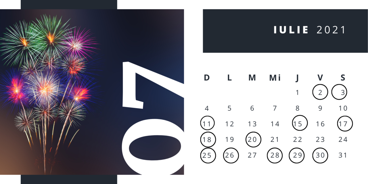 Zile internaționale în luna iulie