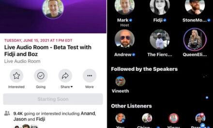 Facebook desfășoară primul live test pentru Facebook Audio Rooms
