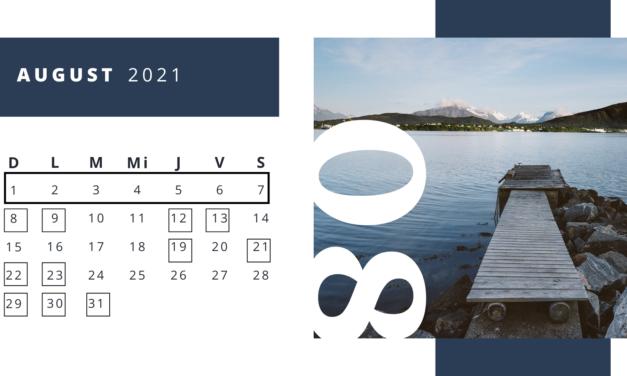 Zile internaționale – luna August