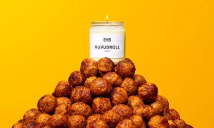Lumânarea parfumată Huvudroll vă va umple casele cu mirosul celebrelor chiftele suedeze IKEA