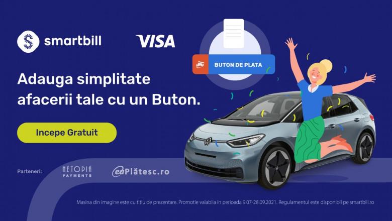 SmartBill și Visa adaugă simplitate afacerilor cu un Buton
