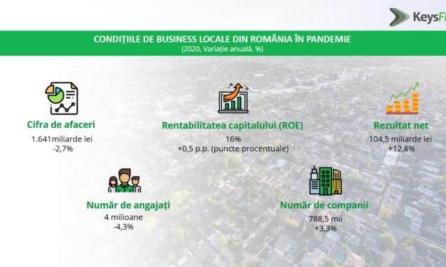 Rrezultatul net al companiilor nefinanciare din România a depășit, pentru prima dată, pragul de 100 de miliarde de lei în 2020